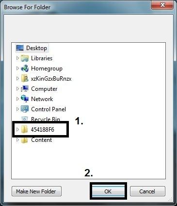 XTAF browse folder