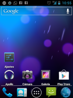 Android 4 home lg l3
