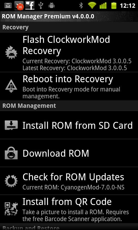 Rom Manager 4
