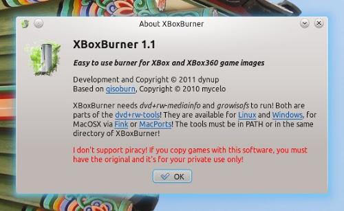 Xboxburner linux