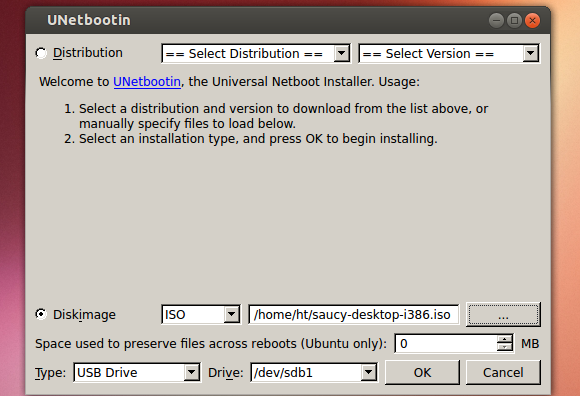 Unetbootin linux