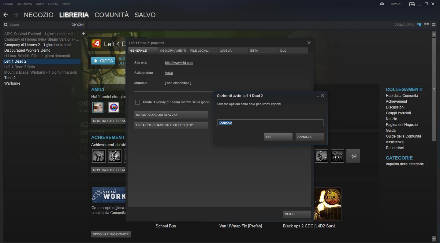 GUIDA*: Aprire la console su Left4Dead 1/2 (Steam PC