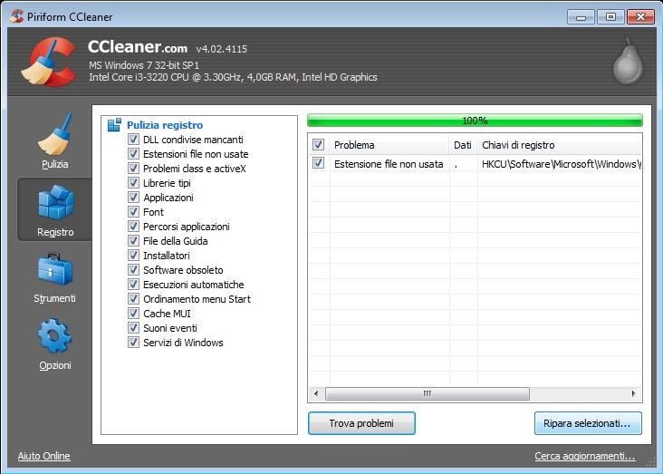 ccleaner registro
