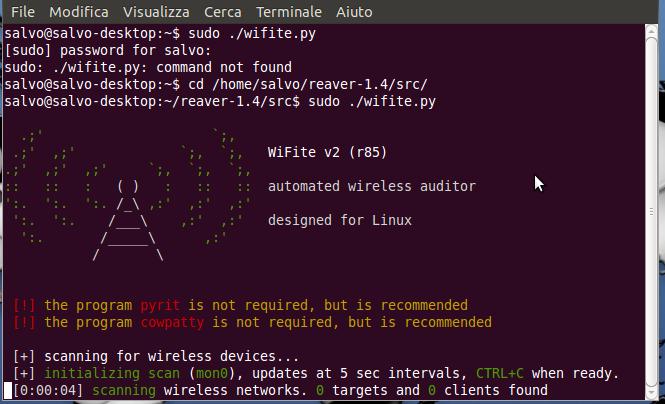 Wifite.py programma