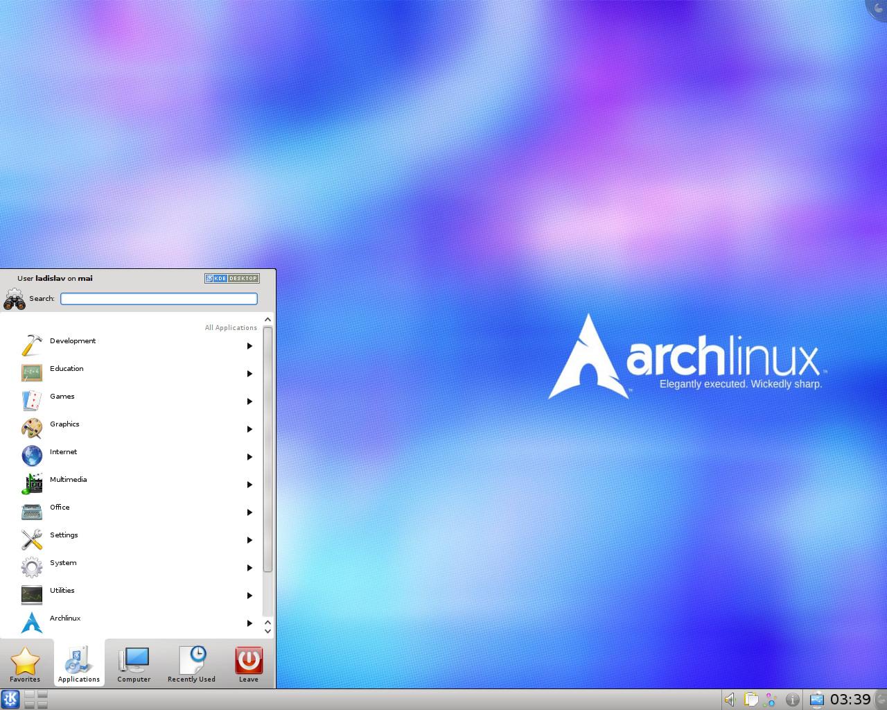 Arch-Linux 2016.01.01 KDE