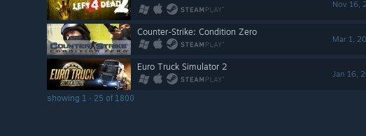 Numero giochi Steam Linux