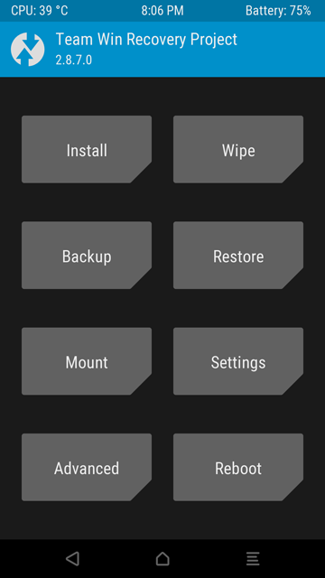 Recovery TWRP OnePlus X