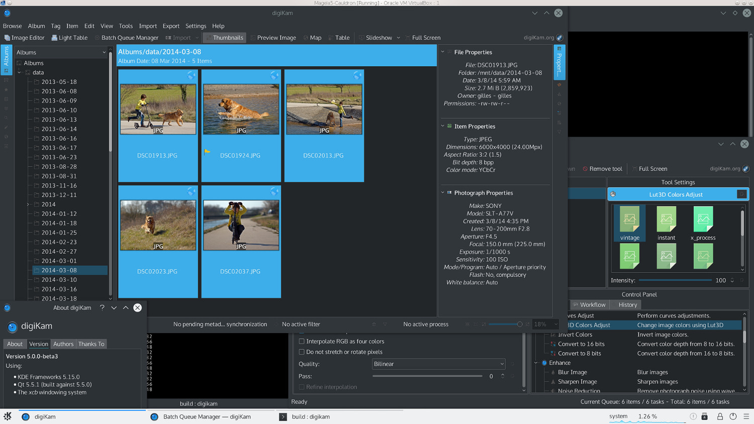 digiKam 5.0.0-beta3 changelog