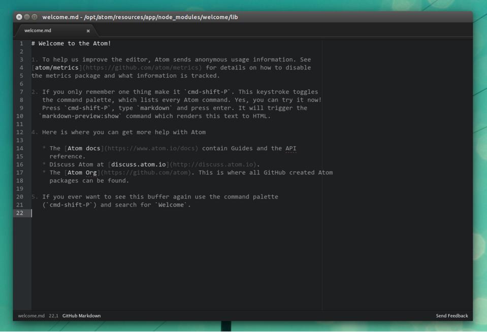 Installare atom su ubuntu