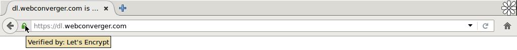 webconverger 34 ssl