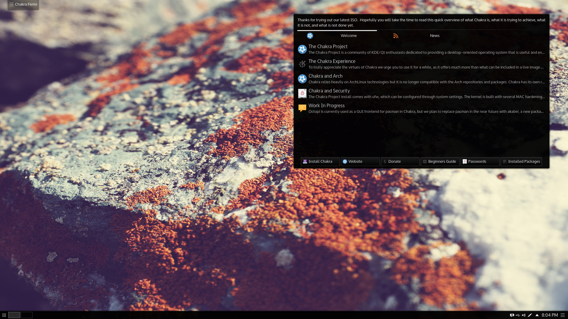 Chakra GNU Linux 2016.02