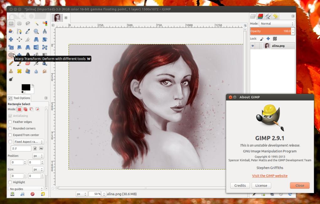 GIMP 2.9 ppa