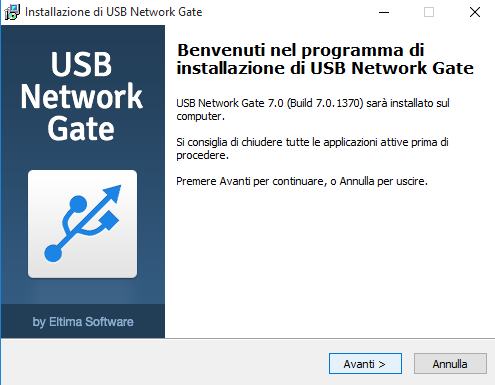 USB Newtork gate installazione