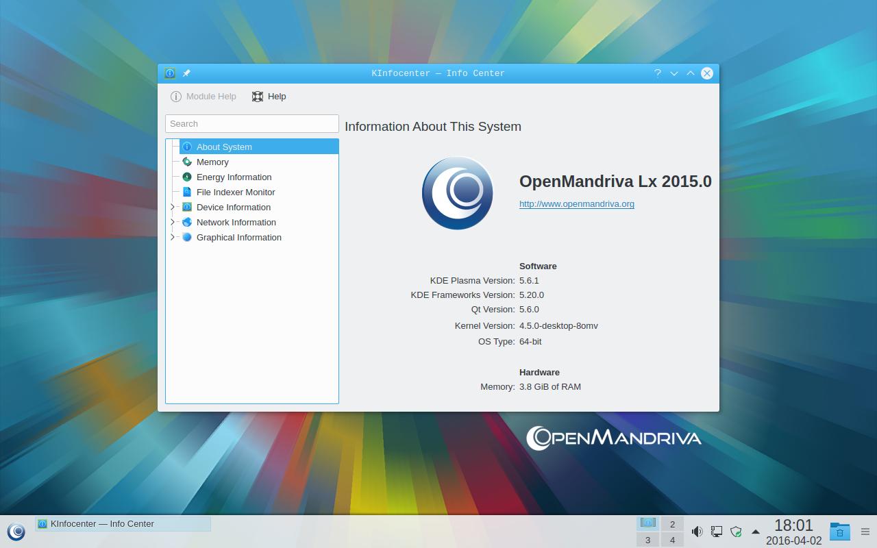 OpenMandriva Lx 3 Beta 1 informazioni