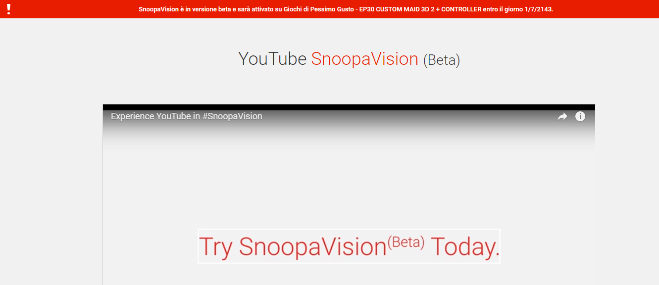 SnoopaVision Youtube