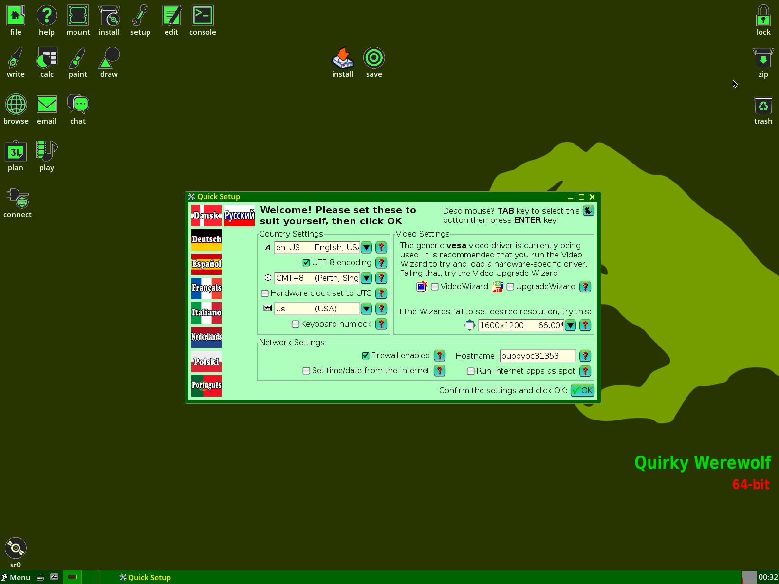 quirky linux 7.3 ROX