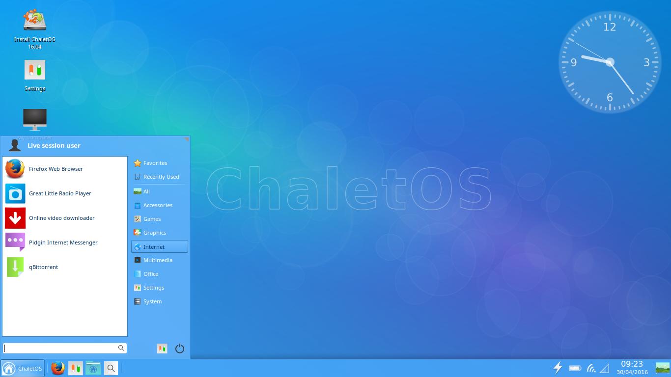 ChaletOS 16.04 Xfce.