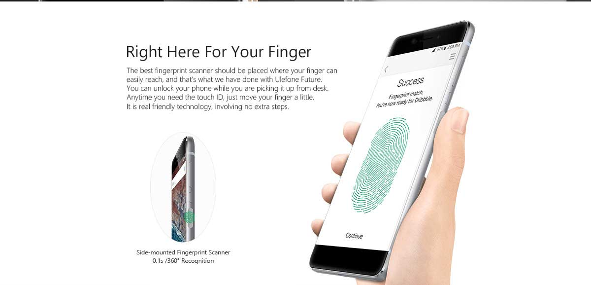 Ulefone Future fingerprint