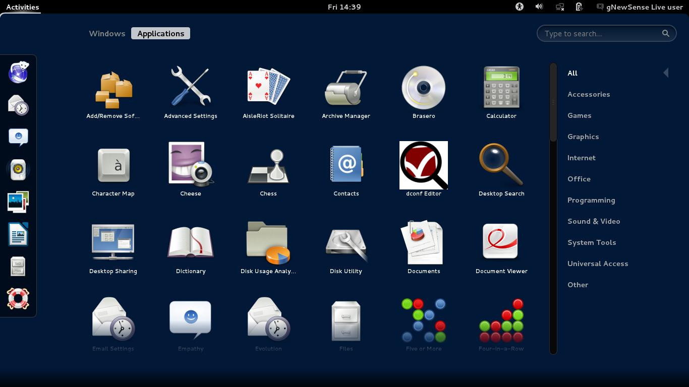 gnewsense 4.0 GNOME