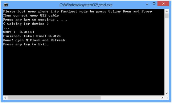 sblocco bootloader xiaomi mi4s