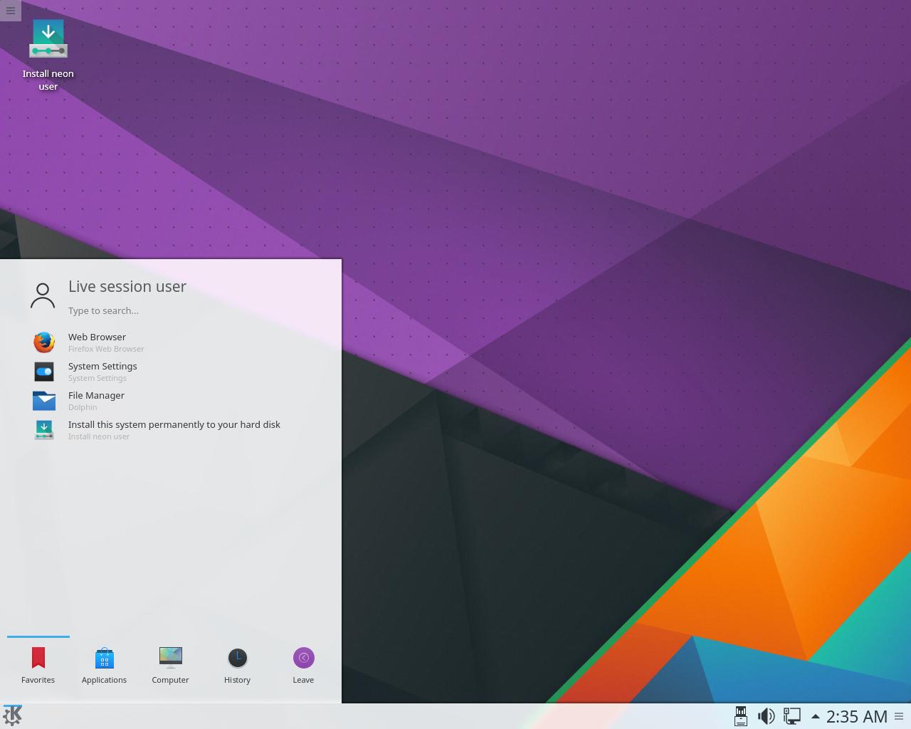 kde neon 5.7 KDE.